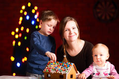 Gingerbread house decoration Royalty Free Stock Image
