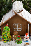 Gingerbread house with decorations, Stock Images