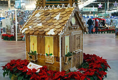 Gingerbread House on Display Royalty Free Stock Images