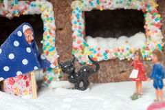Gingerbread house. With the fairy tale of Hansel and Gretel Stock Photos