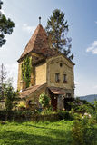 Gingerbread house. A fairytale like house in Sighisoara Fortress Stock Image