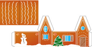 Gingerbread  house folded model paper Royalty Free Stock Photo