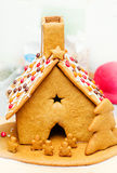 Gingerbread house- front view Royalty Free Stock Photos