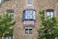 Gingerbread house by Gaudi in Park Guell, Barcelona, Spain Stock Photo
