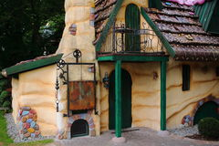 Gingerbread house. The Gingerbread house of Hansel and Gretel - a fairy tale scenery Stock Photo