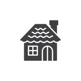 Gingerbread house icon vector, filled flat sign, solid pictogram Stock Photos