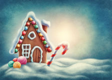 Gingerbread house. Illustration of a gingerbread house Royalty Free Stock Photography