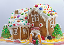 Gingerbread House isolated on white Stock Photography