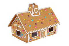 Gingerbread House Isolated On White Royalty Free Stock Images
