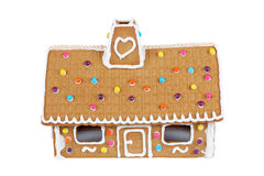 Gingerbread House Isolated On White Royalty Free Stock Photo