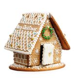 Gingerbread house. Isolated on a white backgrond royalty free stock image