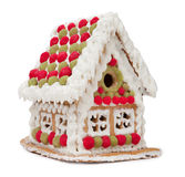Gingerbread house. Isolated on white background stock photos