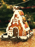 Gingerbread house. Made with their own hands Stock Image