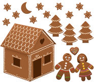 Gingerbread House Man Woman Love Royalty Free Stock Images