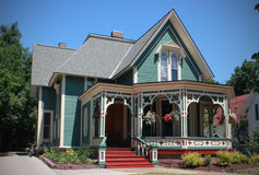 Gingerbread House, Marquette, Michigan royalty free stock photo