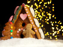 Gingerbread house and men Stock Photo