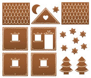Gingerbread House Model Template Stock Images