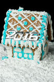 Gingerbread house with number 2016 Stock Image