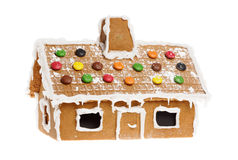 Gingerbread house. One gingerbread house isolated on whitebackground Stock Photo