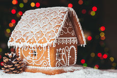 The gingerbread house Stock Images