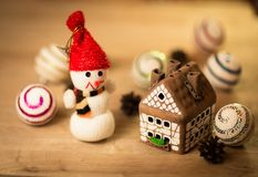 Gingerbread house over Stock Images