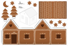 Gingerbread House Paper Model Royalty Free Stock Image