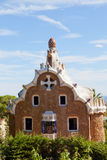 Gingerbread house in Park Guell Stock Photos
