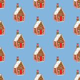 Gingerbread house pattern Stock Photography