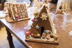 Gingerbread House. After story Hansel and Gretel hand decorated by child Stock Photography
