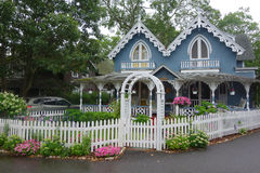 Gingerbread house. Summer home on the island Martha's Vineyard MA  US Stock Photography