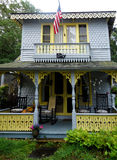 Gingerbread house. Summer home on the island Martha's Vineyard MA  US Royalty Free Stock Photo