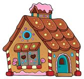 Gingerbread house theme image 1 Stock Photo