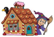 Gingerbread house theme image 2 stock illustration