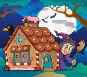 Gingerbread house theme image 4 stock illustration