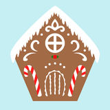 Gingerbread house, vector illustration Royalty Free Stock Photography