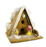 Gingerbread House on White Stock Photos