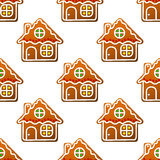 Gingerbread houses and homes Royalty Free Stock Image