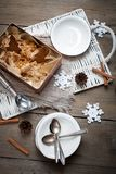 Gingerbread ice cream Stock Images