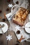 Gingerbread ice cream Stock Photography