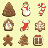 Gingerbread icons Royalty Free Stock Image