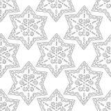 gingerbread Illustrazione in bianco e nero per il libro da colorare o la pagina Natale, fondo di festa Fotografie Stock Libere da Diritti