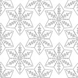 gingerbread Illustrazione in bianco e nero per il libro da colorare o la pagina Natale, fondo di festa Immagine Stock