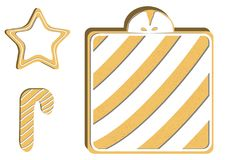 gingerbread Ilustração qualitativa do vetor para o dia do ` s do ano novo, Natal, feriado de inverno, cozinhando, véspera do ` s  Imagem de Stock Royalty Free