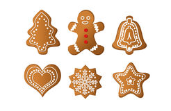Gingerbread isolated Royalty Free Stock Photos