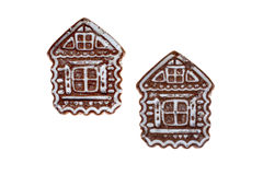 Gingerbread on an isolated background. Two gingerbread  like a house on an isolated background Royalty Free Stock Photography