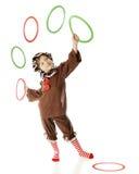 Девушка Gingerbread Jugling Стоковое Изображение RF