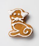 Gingerbread kitten Stock Images