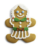 Gingerbread Lady Cookie Royalty Free Stock Images