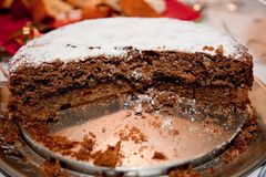 Gingerbread layered cake Stock Images