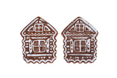 Gingerbread like a house. On an isolated background Stock Photos